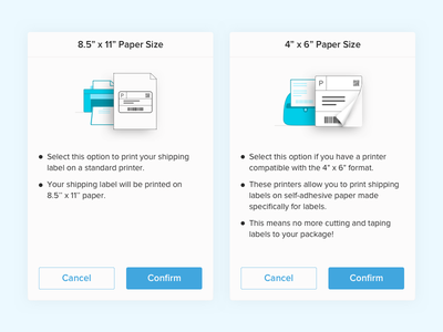 Shipping Label Settings - Popups peel off shipping label settings shipping label sticker printer illustration graphics fold peel popups