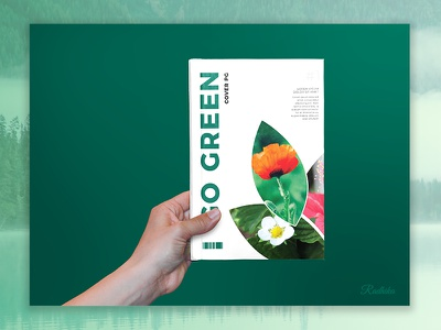 Go Nature Brochure Template cover flyer leaflet wave green template nature brochure