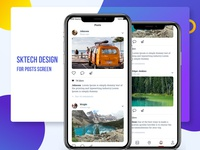 Posts Screen Design