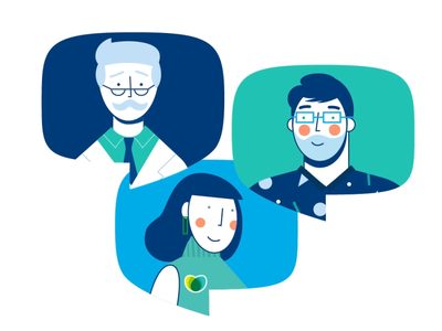Talking heads character design bubble dude doctor womans woman talking heads characters