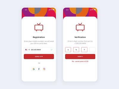 OTP UI iphonex ios bauhaus login flatdesign otp