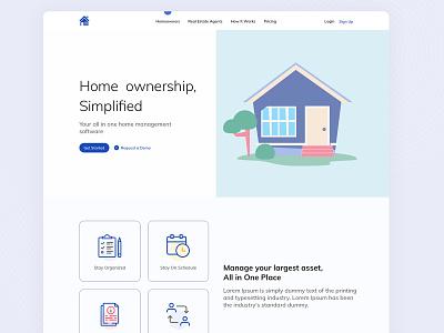 Real Estate agent bootstrap4 uidesign ui  ux website web desktop ui realestate