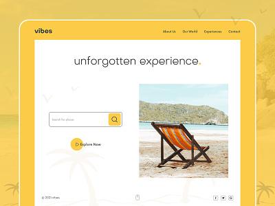 Good Vibes social slider banner grediant yello flat dashboard web beach tour desktop tourist