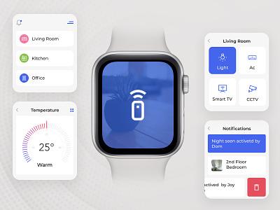 Smart Home - Apple Watch App graphic design appliances home watch smart home app apple watch smart watch