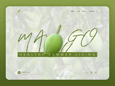 Fruit Mango Light Dashboard sketch web bootstrap mango summer graphic design branding
