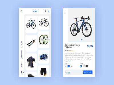 My Bike Store flat ux aaplication figma ecommerce store bike ui