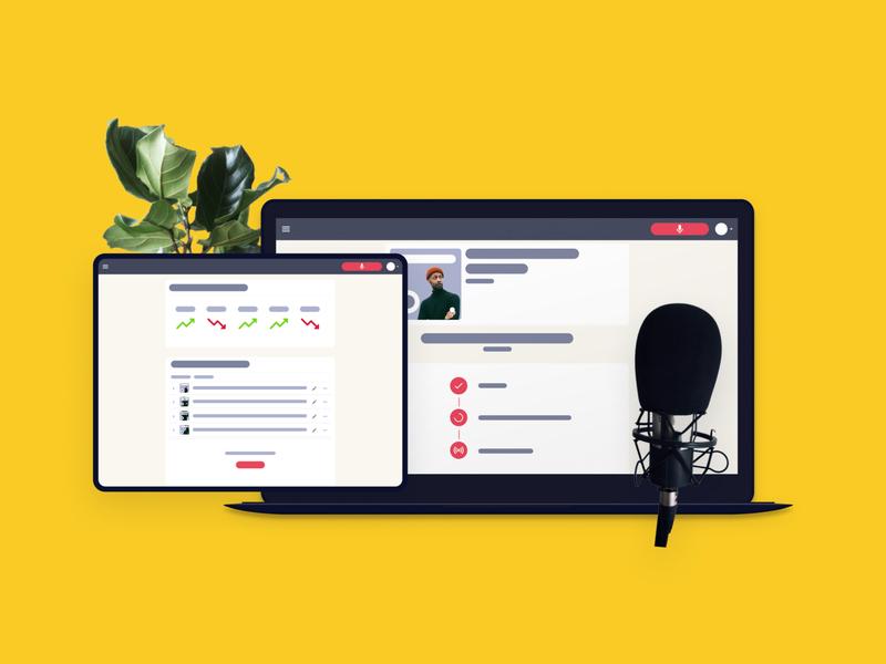 Podcast Creator Studio • RecTag podcast analytics podcast studio clean design simple design podcasting audio platform onboarding podcast alexander michaelis rectag ux design ui app