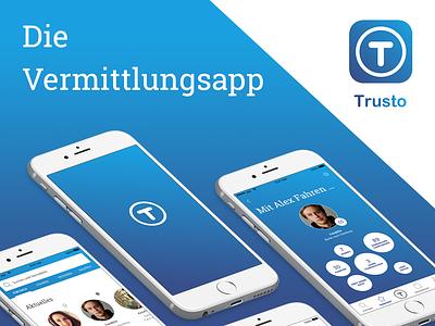Trusto – Sharing among friends and acquaintances carsharing safe sharing environment sharing economy app ux design ui