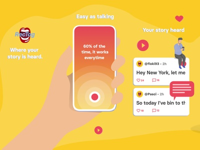 RecTag - Where your story is heard android ios vector app typography designgraphic design podcast discovery platform audio podcast application illustration appstore screenshots playstore screenshot