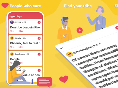 RecTag - Where your story is heard. berlin rectag voice to text social media audio podcast discovery podcast illustrations illustration art illustration app andorid ios appstore screenshots playstore screenshots