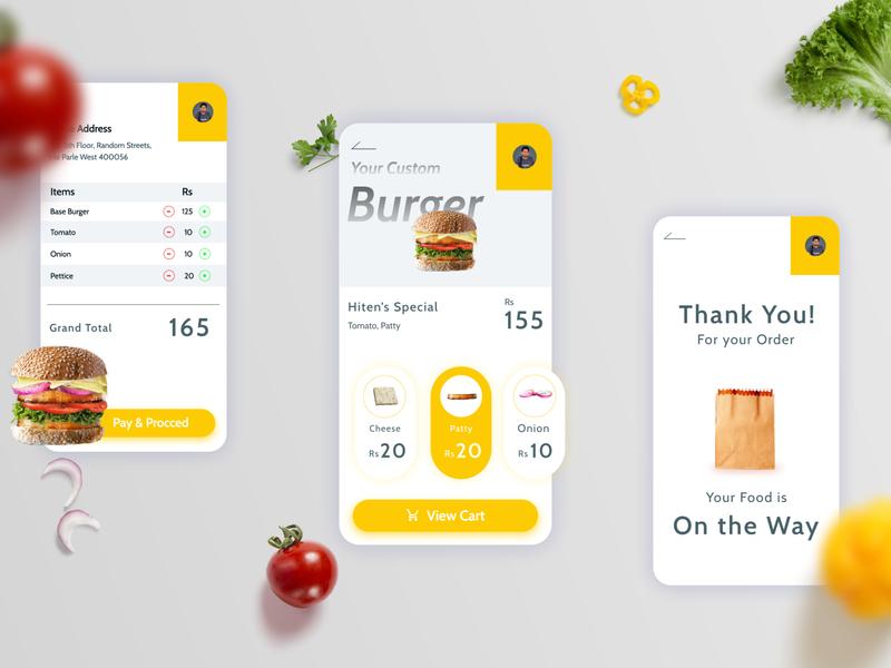 Food App - UI Interaction Design