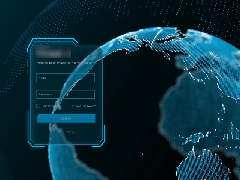 Cyber security - Dashboard UI-UX log in screen animation after effects europe usa dubai hyderabad bangalore dashboard ui artificial intelligence threat security 3d art animation 3d dashboard app dashboard design ui design uiux dashboard mumbai