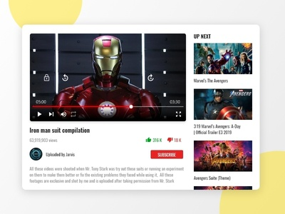 Video Player- #dailyui - 057