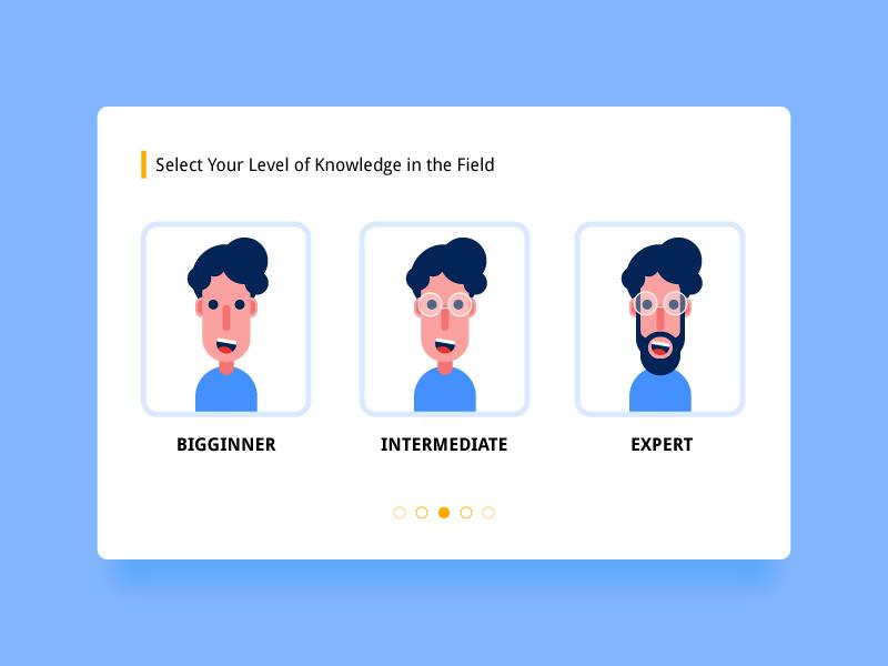 Select User Type - #dailyui - 064 flat illustration user profile character design blue ux digital art app graphic design vector graphics illustration daily ui daily challange dailyui uiux ui design mumbai india