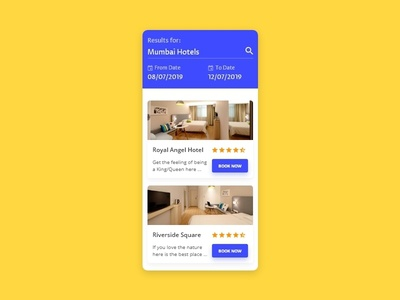 Hotel Booking -  - #dailyui - 067