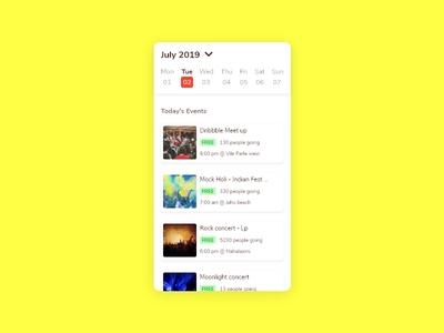 Event Listings Trending- #dailyui - 070