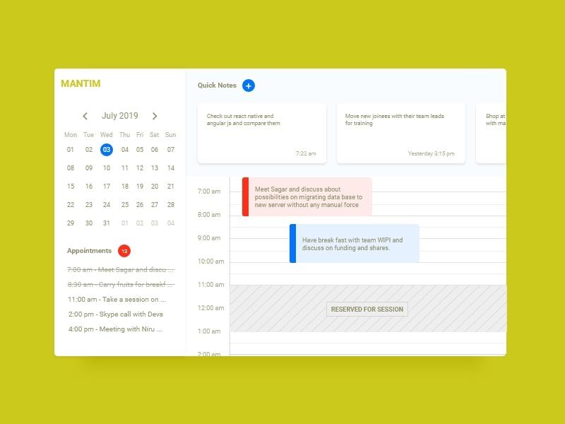 Schedule - #dailyui - 071 schedule blue red dashboad colors typogaphy digital art ux app app design graphic design graphics daily ui daily challange dailyui uiux ui design mumbai india