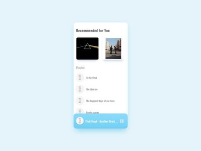 Curated for you - #dailyui - 091 music app clean ui colors gradient blue app design typography curated for you ux app graphics graphic design daily ui daily challange dailyui uiux ui design mumbai india