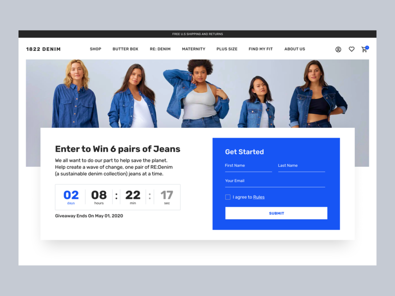 Daily UI challenge #001 — SignUp Form 001 dailyui blue ui concept challenge giveaway webdesign web