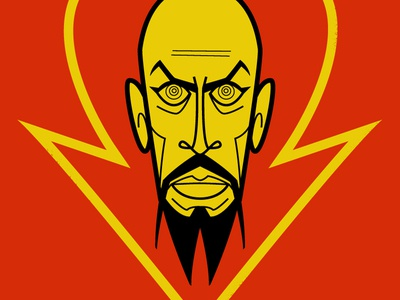 Ming The Merciless diego riselli midcenturymodern retro wacom cintiq adobe creative cloud adobe illustrator vector illustration vector caricature fanart tribute rip max von sydow flash gordon