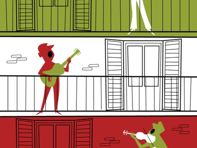 Cantare a squarciagola diegoriselli wacom cintiq midcenturymodern adobe adobe illustrator retro vector vector illustration cantare insieme italian iorestoacasa andratuttobene italia coronavirus