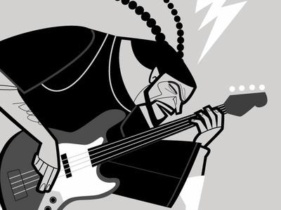Robert Trujillo musician bass guitar diego riselli midcenturymodern wacom cintiq adobe illustrator cc adobe creative cloud caricature vector trashmetal metal metallica roberttrujillo