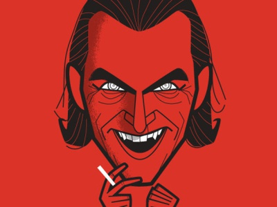 That's Life! caricature fanart cartoon retro diego riselli wacom cintiq adobe creative cloud adobe illustrator vector brushes vector vector illustration warner bros dc comics todd philips joaquin phoenix joker movie joker thatslife