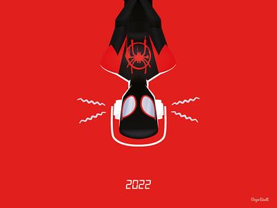 Spider-Verse 2 illustration adobe creative cloud 2020 adobe illustrator cc vector vector illustration spiderverse 2 poster fan art miles morales marvel spiderverse spiderman