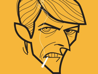 David Bowie piedimonte matese diego riselli cartoon caricature retro adobe creative cloud adobe illustrator vector tribute fan art ziggy stardust blackstar starman bowie david bowie