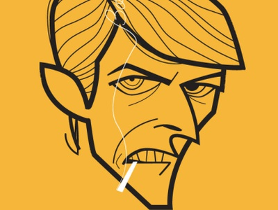 David Bowie piedimonte matese diego riselli cartoon caricature retro adobe creative cloud adobe illustrator vector tribute fan art ziggy stardust blackstar starman bowie david bowie