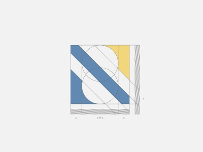 Nicolas Scheel | Personal Brand training personal brand personal branding project management logo design initials icon golden ratio geometic education consulting simple modern badge mark logo academy