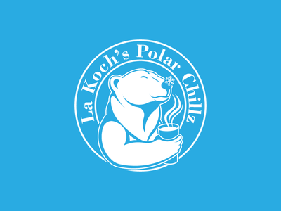"La Koch's ""Polar Chillz"" logo concept for tumblers"