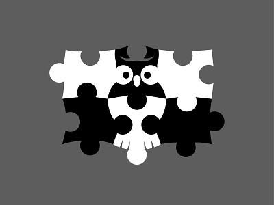 Maker21 Logo Concept | Children's Education negative-space negative space logo negativespace negative space child theme education logo logos logo design owl logo puzzle puzzles owl platform children child education play badge mark logo