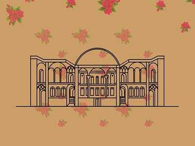 Tabatabaei House Illustration illustration kashan flower