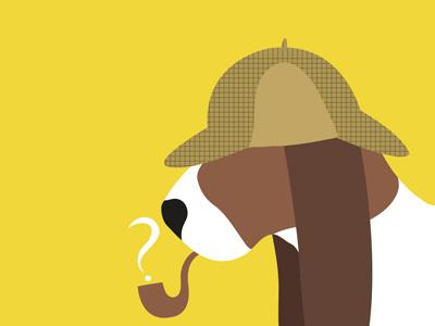 Dog people -6 design art sherlock basset hound dogs