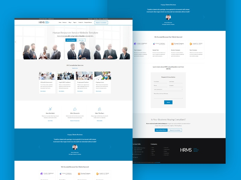 human resource management business design by easetemplate dribbble