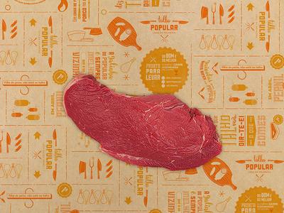 Popular Butchery / Talho Popular paper porto popular butchery meat talho branding