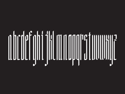 Danube Typeface blackletter graphic  design type typogaphy design modular
