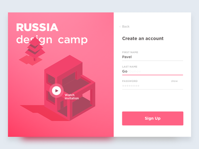 DailyUI (16 Day) Pop-Up Login russia popup login dailyui create camp 016