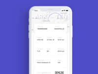 DailyUI (024 Day) — Boarding pass