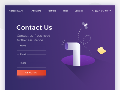 DailyUI (028 Day) — Contact Us