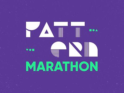 Pattern Marathon marathon animation motiondesignschool aftereffect morphing motion animation shape pattern