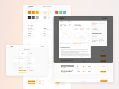 NN Investment Partners TFI // Reimagined cart checkout buying styleguide design system typography material chart dashboard financial funds investments identity branding figma minimalistic clean ux ui minimal