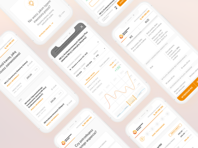 NN Investments Partners TFI // Reimagined (MOBILE) flying bisons banking funds investment financial dashboard financial design typography figma branding mobile adaptive clean ux ui minimal