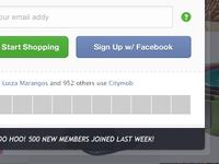 Citymob Sign Up - Wall Version