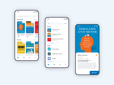 Personal app concept store minimal clean personal book concept ux ios design app ui