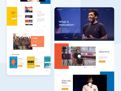 Personal website redesign desktop interface ux redesign web design ui