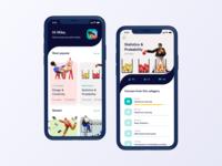 Online education mobile app concept learn e-learning courses online education simple illustration clean concept ux ios app design ui