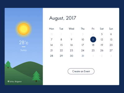 Calendar/Weather desktop app - part 2