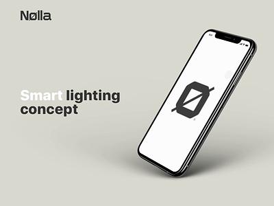 Nolla app smart lighting iphonexs ux ios motion animation design app ui